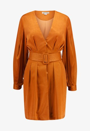 LUXE BELTED WRAP DRESS - Abito a camicia - camel