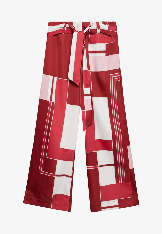TAILORED TROUSERS - Stoffhose - red