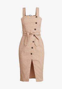 UNIQUE 21 - BUTTON FRONT MIDI DRESS - Abito a camicia - camel - 5