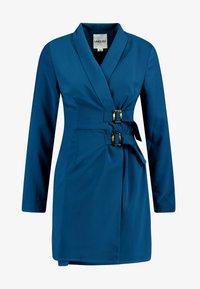UNIQUE 21 - BELTED BLAZER DRESS - Denní šaty - blue - 5