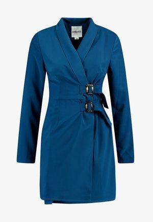 BELTED BLAZER DRESS - Vestido informal - blue