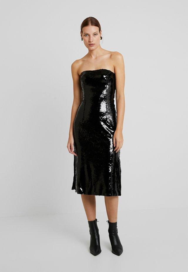 PREMIUM SEQUIN BODYCON MIDI DRESS - Cocktailkleid/festliches Kleid - black