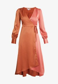 UNIQUE 21 - WRAP DRESS IN CONTRAST - Korte jurk - rust/blush - 5