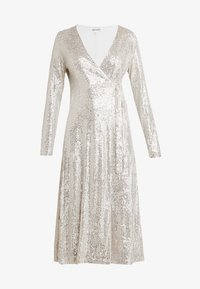 UNIQUE 21 - SEQUIN WRAP DRESS WITH BELT - Sukienka koktajlowa - brushed silver - 5