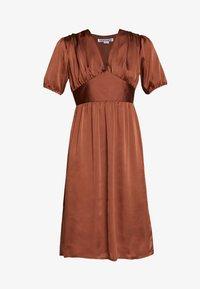 UNIQUE 21 - PUFF SLEEVE DRESS - Koktejlové šaty/ šaty na párty - brown - 5