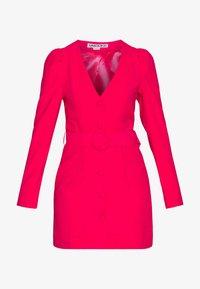 UNIQUE 21 - WOVEN PUFF SLEEVE BELTED BLAZER DRESS - Kjole - pink - 3