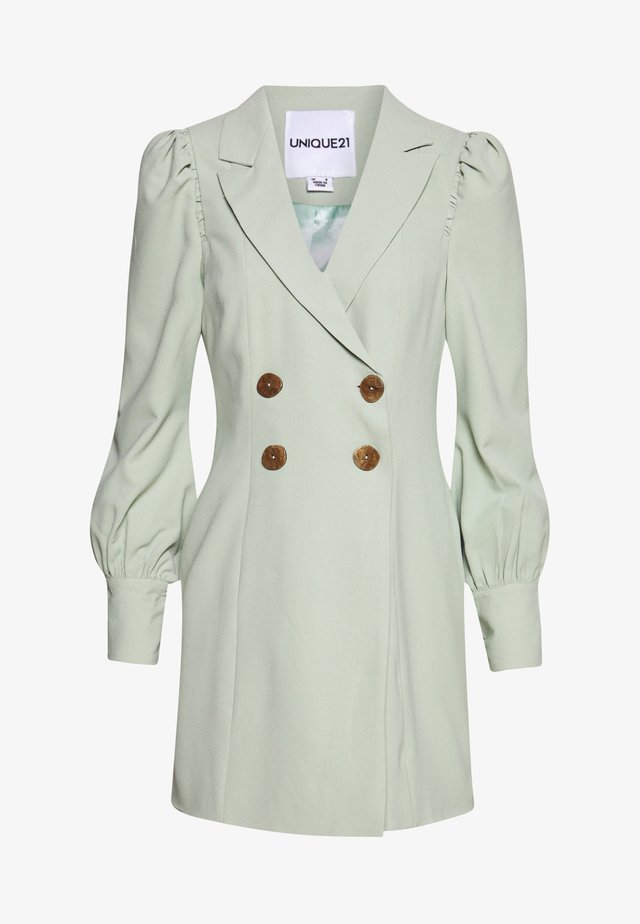 PUFF SLEEVE BLAZER DRESS - Freizeitkleid - fresh sage