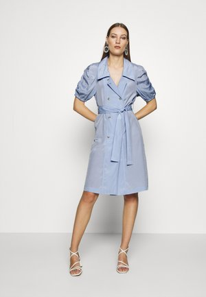 VINTAGE TAILORED PUFF SLEEVE BLAZER DRESS - Day dress - blue