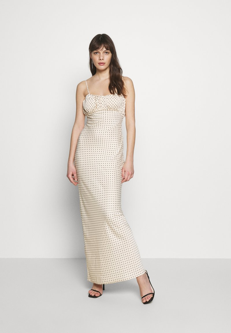 UNIQUE 21 - LUXE DOT RUCHED CAMI DRESS - Maxi šaty - champagne polka
