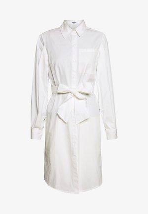 VOLUME SLEEVE TIE WAIST DRESS - Blousejurk - white