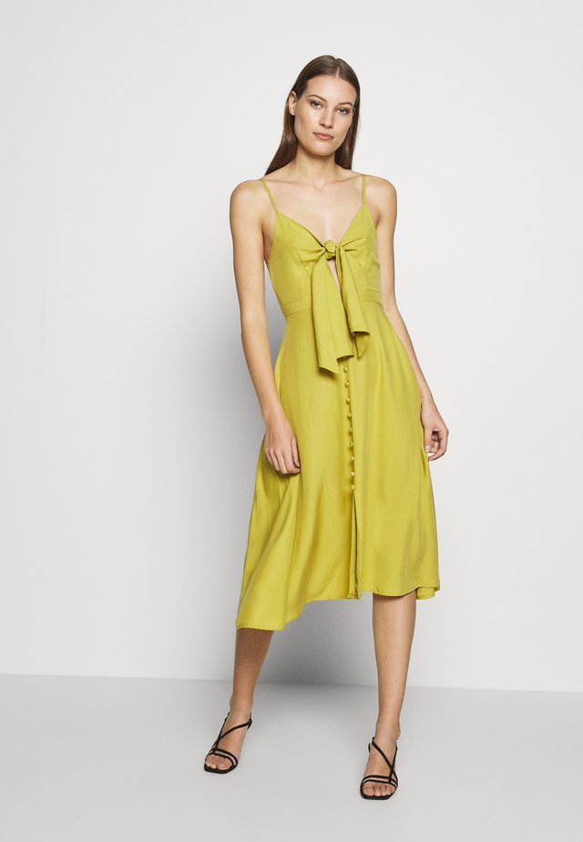 TIE FRONT SWEETHEART DRESS - Day dress - pistachio yellow