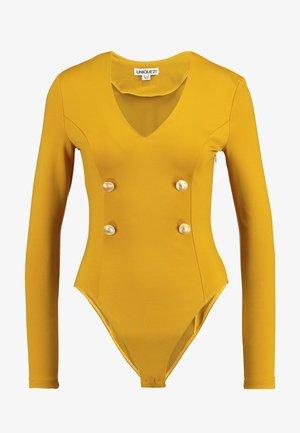 PREMIUM BODYSUIT - Long sleeved top - gold