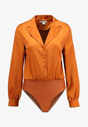 LUXE TAILORED BODYSUIT - Košile - rust