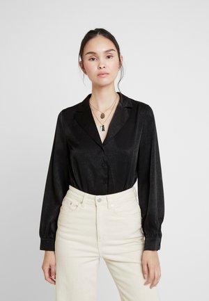 LUXE RUST TAILORED BODYSUIT - Košile - black