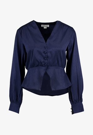PEPLUM WITH FRONT BUTTON DETAILING - Camicia - midnight blue