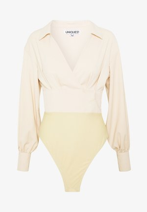 TAILORED LONG SLEEVE BODYSUIT - Blouse - cream