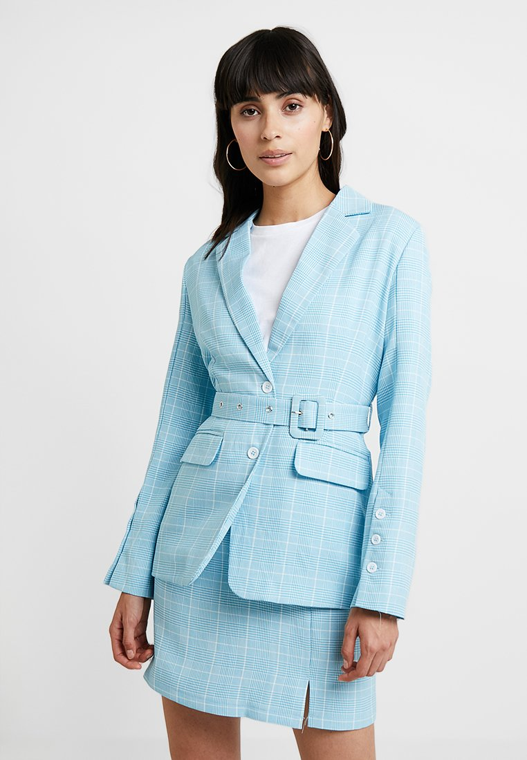 UNIQUE 21 - BLUE CHECK TAILORED WITH BELT - Blazer - blue