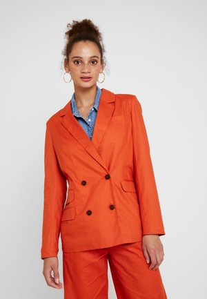 DOUBLE BREASTED TAILORED - Blazer - metallic red