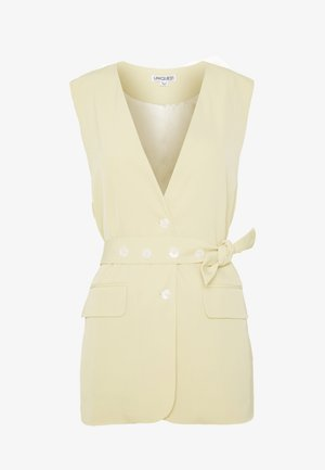 BELTED TAILORED WAISTCOAT - Chaleco - lemon