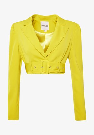 CHARTREUSE BELTED CROP - Blazere - charreuse