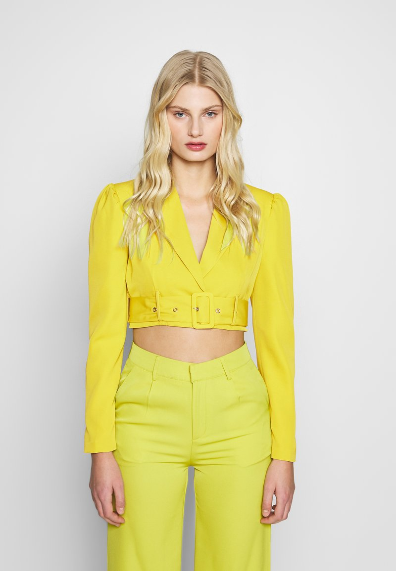 UNIQUE 21 - CHARTREUSE BELTED CROP - Bleiseri - charreuse