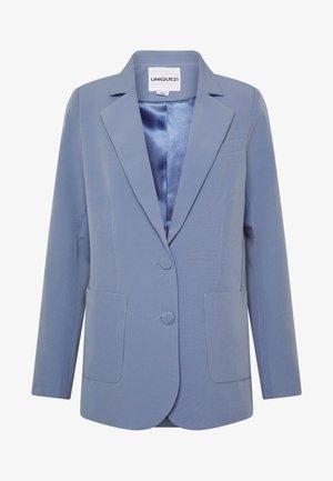 STRUCTURED SELF BUTTON  - Kort kåpe / frakk - blue