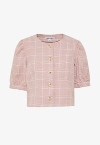 UNIQUE 21 - CHECK PUFF SLEEVE FITTED JACKET - Korte jassen - pink - 4