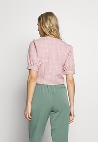 UNIQUE 21 - CHECK PUFF SLEEVE FITTED JACKET - Korte jassen - pink - 2