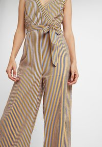 UNIQUE 21 - STRIPE WIDE LEG WITH BELT - Overal - yellow - 5