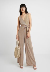 UNIQUE 21 - STRIPE WIDE LEG WITH BELT - Overal - yellow - 1