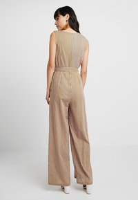 UNIQUE 21 - STRIPE WIDE LEG WITH BELT - Overal - yellow - 2
