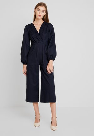 PLEATED WRAP - Jumpsuit - blue