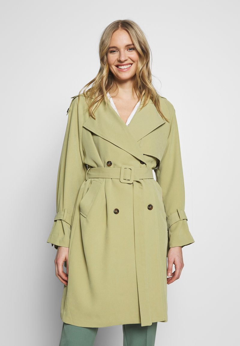 UNIQUE 21 - SAGE OVERSIZED TRENCH COAT - Trenčkot - pistachio