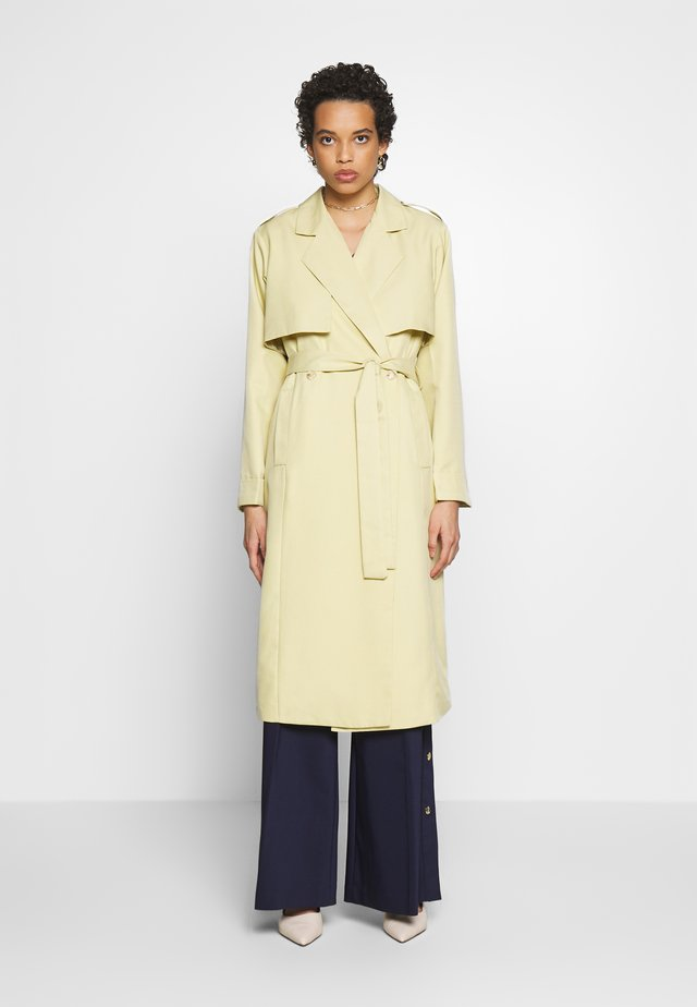 BLEND BELTED - Trenchcoats - pistachio