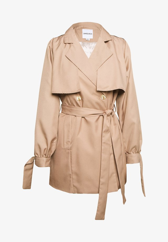 BLEND SHORT TIE SLEEVE  - Trench - brown
