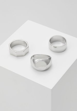 3 PACK - Anillo - silver-coloured