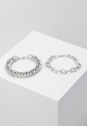 2 PACK - Bransoletka - silver-coloured
