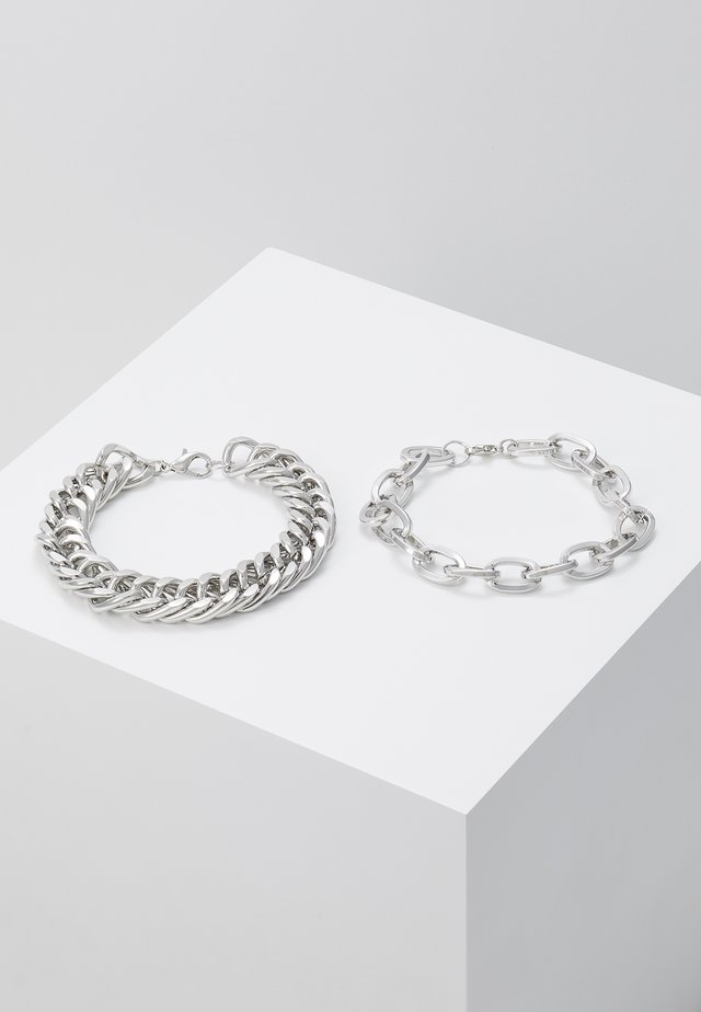 2 PACK - Armband - silver-coloured