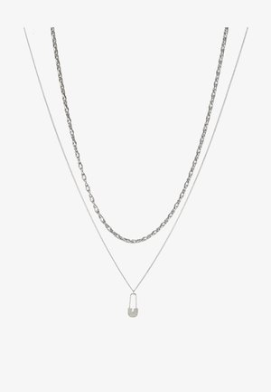 SAFETY PIN CHAIN 2 PACK  - Collana - silver-coloured