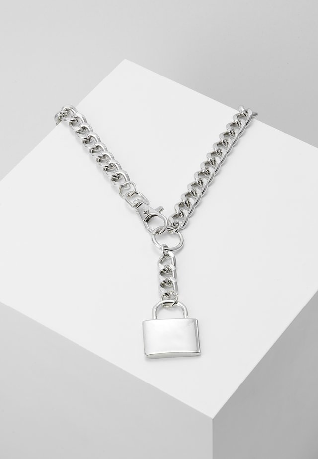 CHUNKY YNECK  - Necklace - silver-coloured