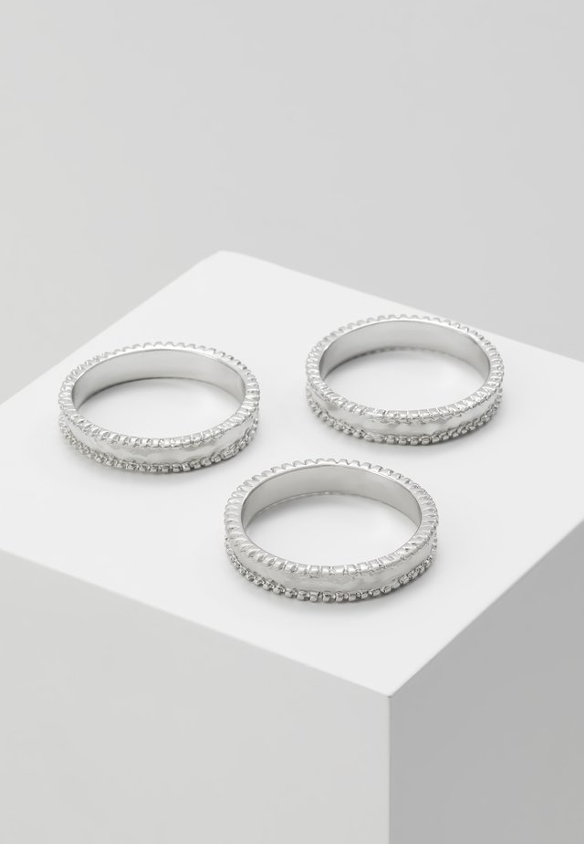 3 PACK - Pierścionek - silver-coloured