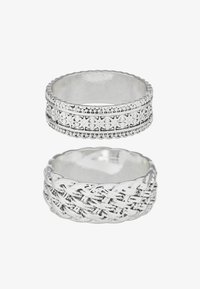 Uncommon Souls - WOVEN 2PACK RING - Ring - silver-coloured - 1