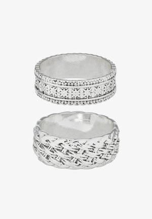 WOVEN 2PACK RING - Anello - silver-coloured
