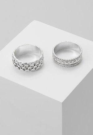 WOVEN 2PACK RING - Bague - silver-coloured