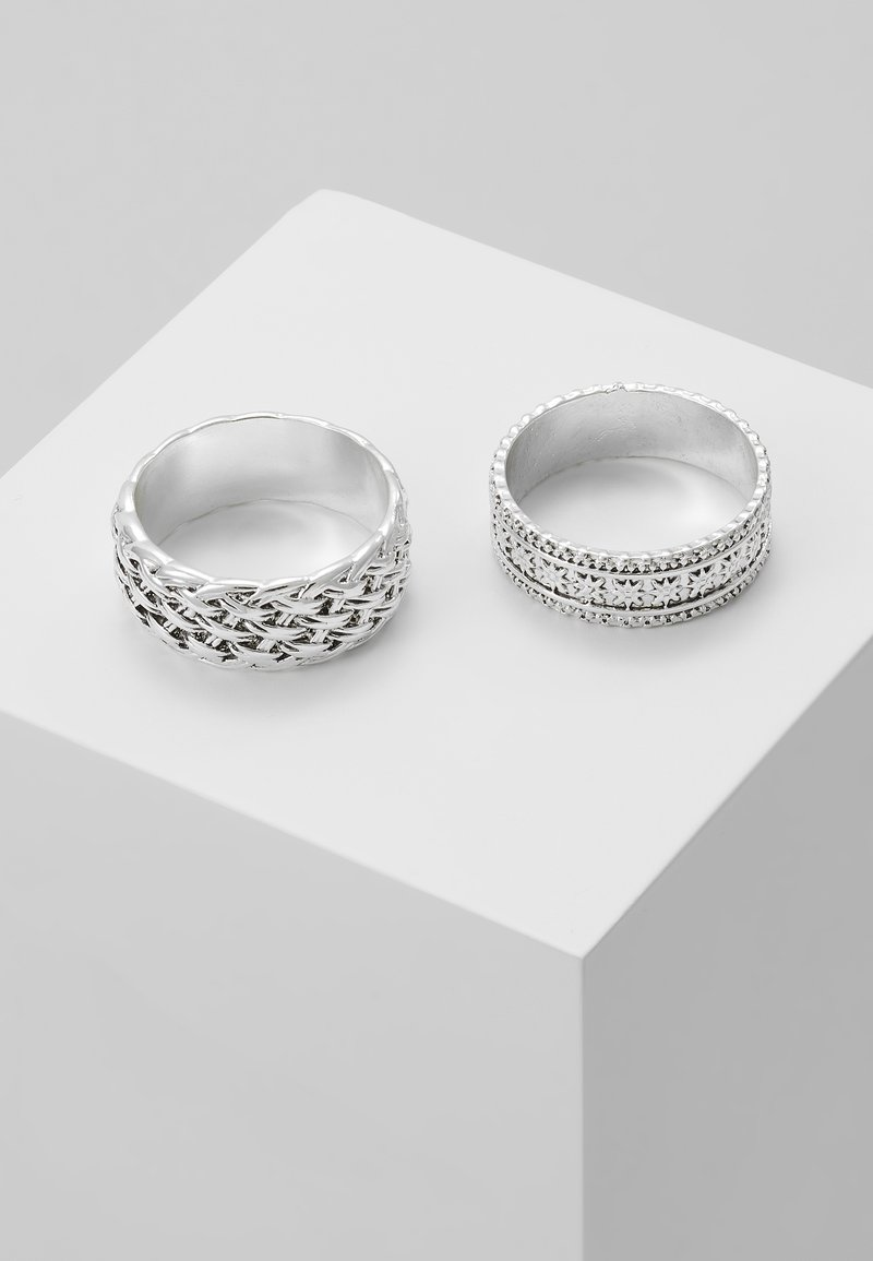 Uncommon Souls - WOVEN 2PACK RING - Ring - silver-coloured