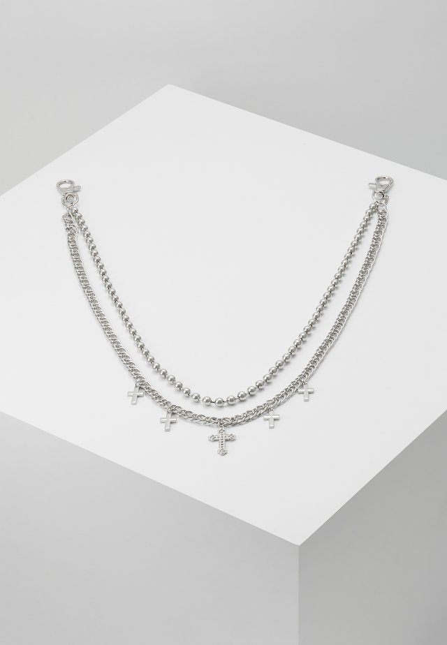 CROSS BALL CHAIN  - Necklace - silver-coloured