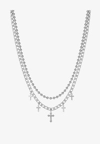 Uncommon Souls - CROSS BALL CHAIN  - Náhrdelník - silver-coloured - 1