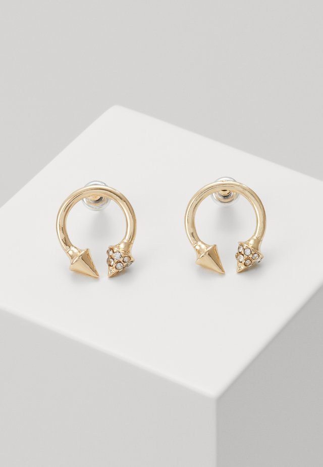 OPEN ARROWED HOOPS - Earrings - gold-coloured
