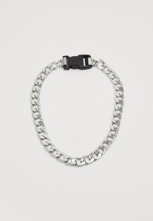 PLASTIC CLIP CHAIN - Collana - silver-coloured/black