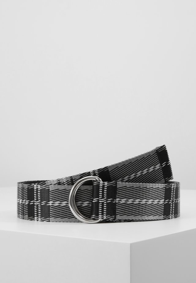 TARTAN BELT - Belt - black/white